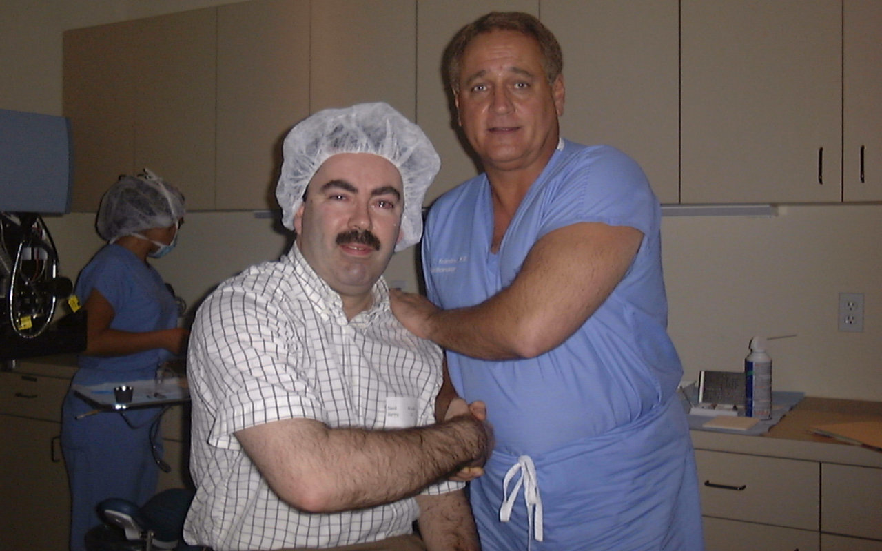 David Gartry immediately after his LASIK treatment with Dr Jack Holladay