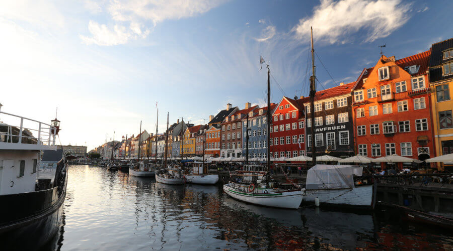 The harbour at Nyhavn, Copenhagen