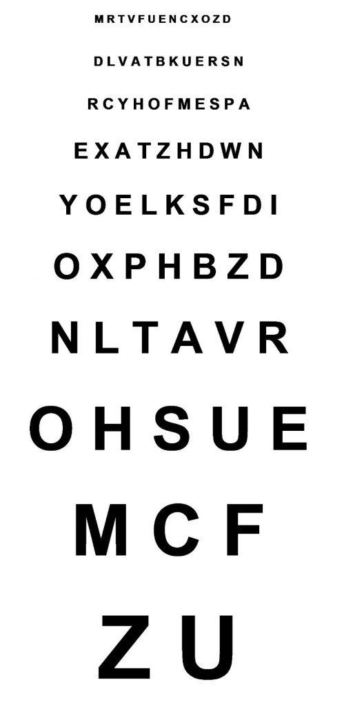 Monoyer Eye Chart